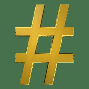 hashtag social media posting