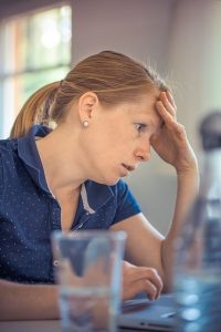 stressed business owner website content writing perth