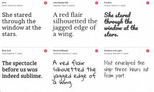 perth copywriting font options