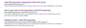 meta data copywriting company Perth