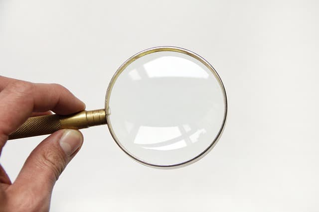 holding magnifying glass Perth